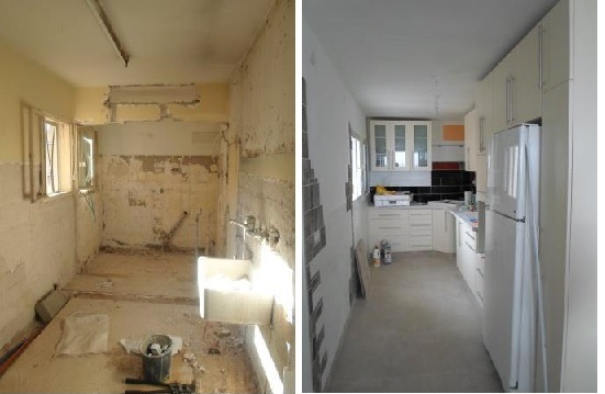 renovating a kitchen in israel